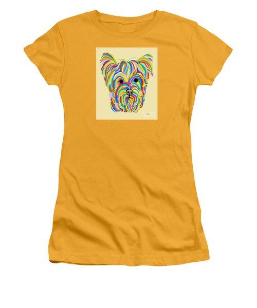 Yorkshire Terrier ... Yorkie Women's T-Shirt (Junior Cut) by Eloise Schneider