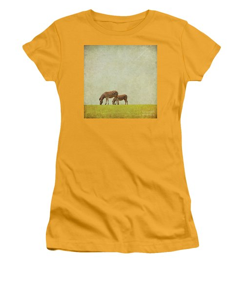 Zebra Women's T-Shirt (Junior Cut) by Lyn Randle