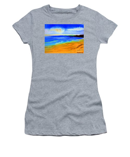 2 Australian Beach In The Morning Near Cottesloe Women's T-Shirt (Athletic Fit)
