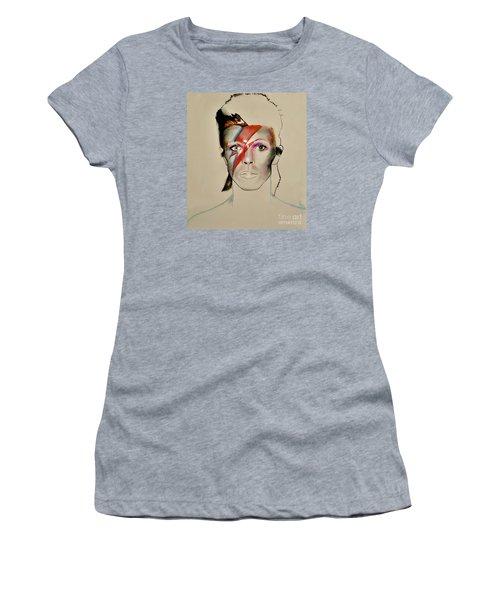 David Bowie Women's T-Shirt (Junior Cut) by Maja Sokolowska