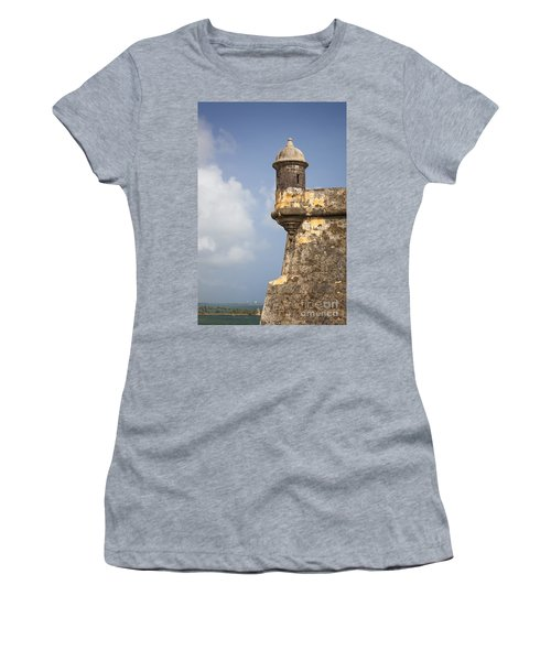 Fortified Walls And Sentry Box Of Fort San Felipe Del Morro Women's T-Shirt