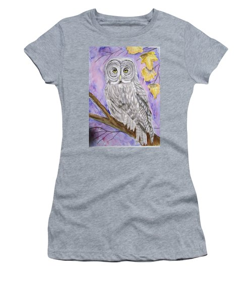 Grey Owl Women's T-Shirt (Athletic Fit)