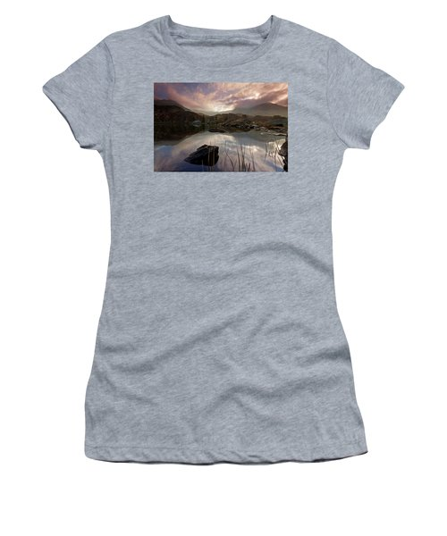 Llyn Ogwen Sunset Women's T-Shirt (Junior Cut) by Beverly Cash