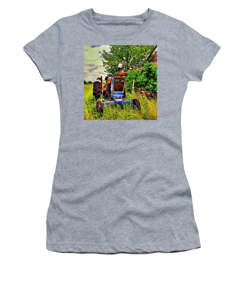Old Ford Tractor Women's T-Shirt (Junior Cut) by Savannah Gibbs