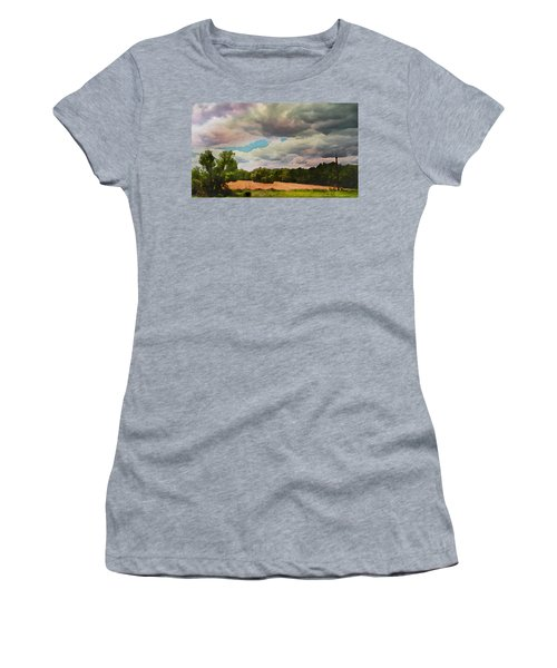Women's T-Shirt (Athletic Fit) featuring the painting  Tennessee Landscape by Joan Reese