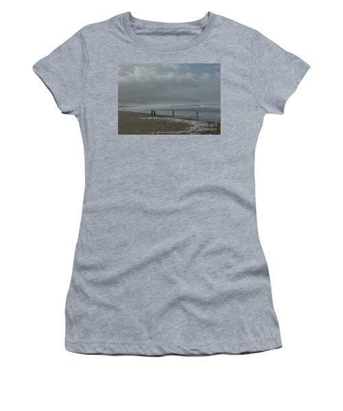 Wave Handstand  Women's T-Shirt (Junior Cut) by Susan Garren
