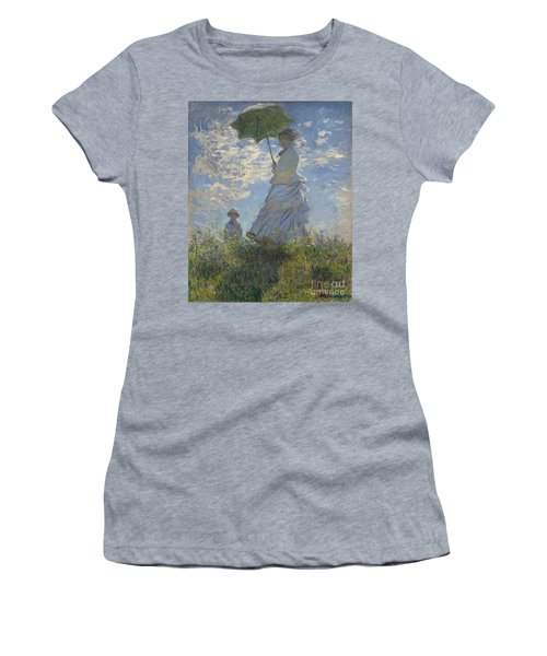 Woman With A Parasol Madame Monet And Her Son Women's T-Shirt