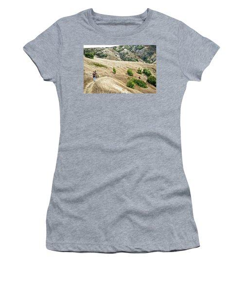 A Family Hikes Across Santa Cruz Island Women's T-Shirt