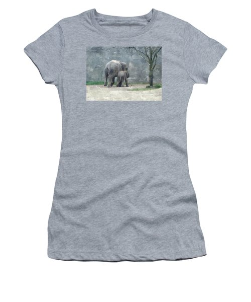 A Mothers Love Women's T-Shirt (Junior Cut) by Sara  Raber