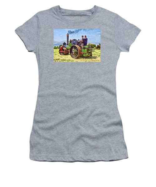 Women's T-Shirt featuring the photograph Aveling Roller by Paul Gulliver