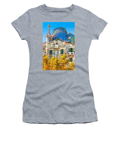 Casa Batllo - Barcelona Women's T-Shirt (Athletic Fit)