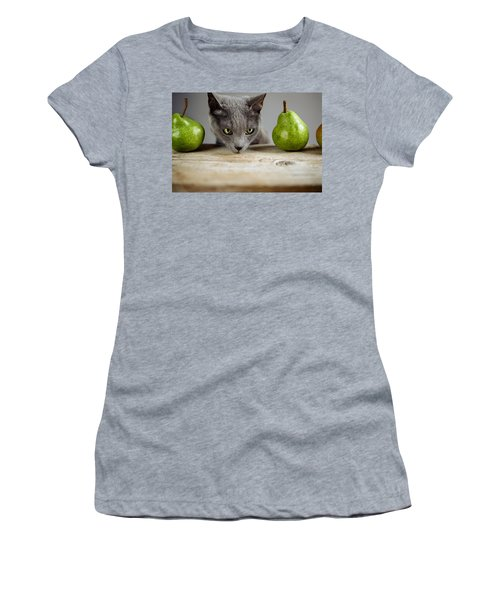 Cat And Pears Women's T-Shirt