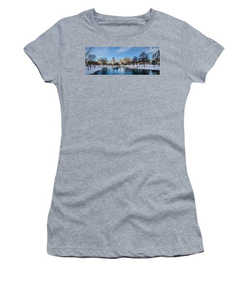 Women's T-Shirt featuring the photograph Charlotte Downtown by Alex Grichenko
