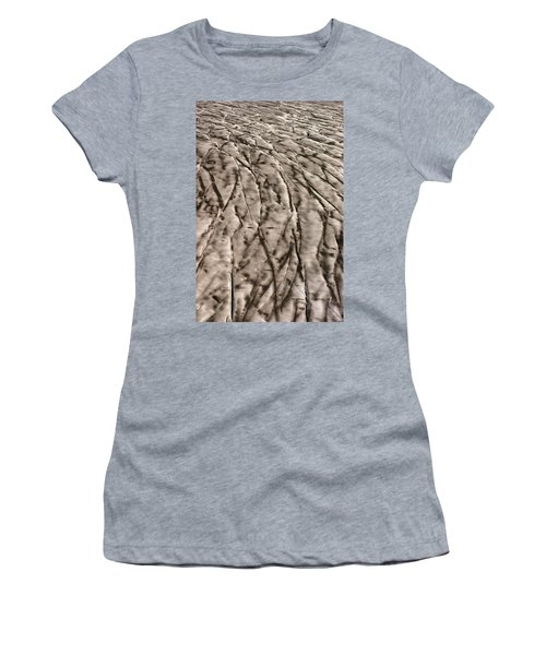 Crevasse Patterns On The Brady Glacier Women's T-Shirt
