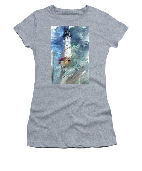 Crisp Point Lighthouse Michigan Women's T-Shirt