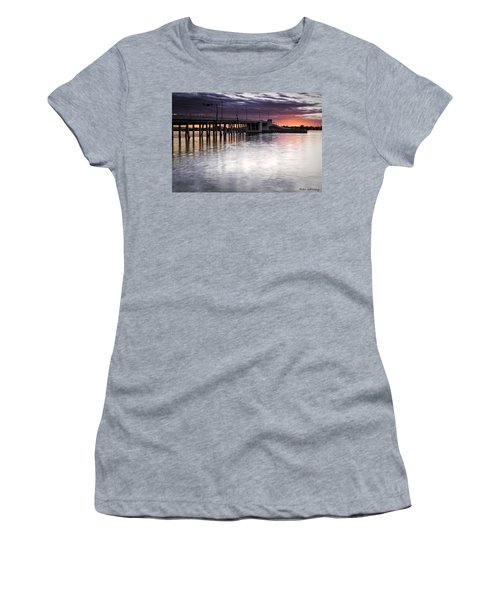 Drawbridge At Sunset Women's T-Shirt (Athletic Fit)