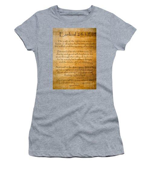 Ezekial 25 17 Women's T-Shirt (Athletic Fit)
