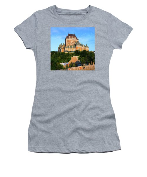 Facade Of Chateau Frontenac In Lower Women's T-Shirt