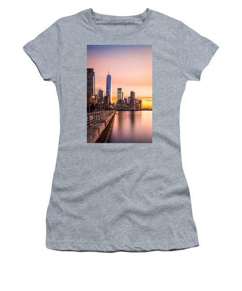 Lower Manhattan At Sunset Women's T-Shirt