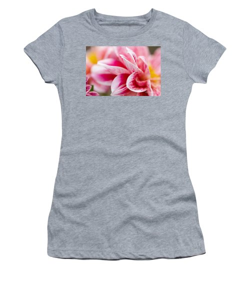 Macro Image Of A Pink Flower Women's T-Shirt
