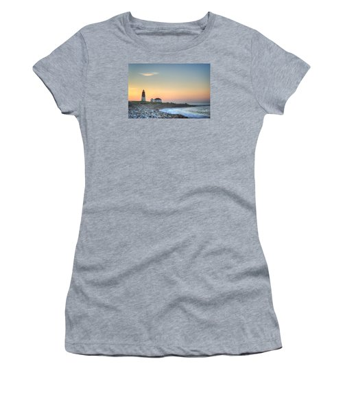 Point Judith Lighthouse Women's T-Shirt (Junior Cut) by Juli Scalzi
