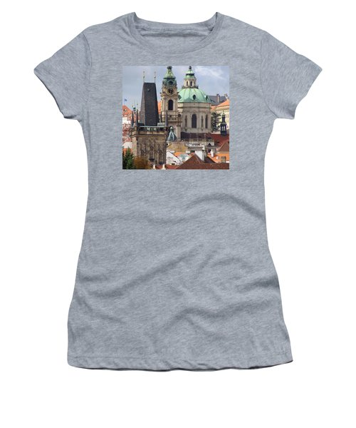 Women's T-Shirt (Junior Cut) featuring the photograph Prague by Ira Shander
