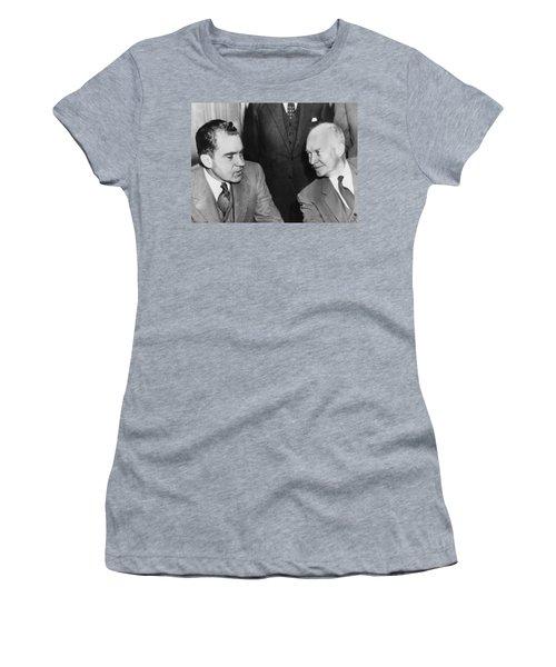 President Eisenhower And Nixon Women's T-Shirt