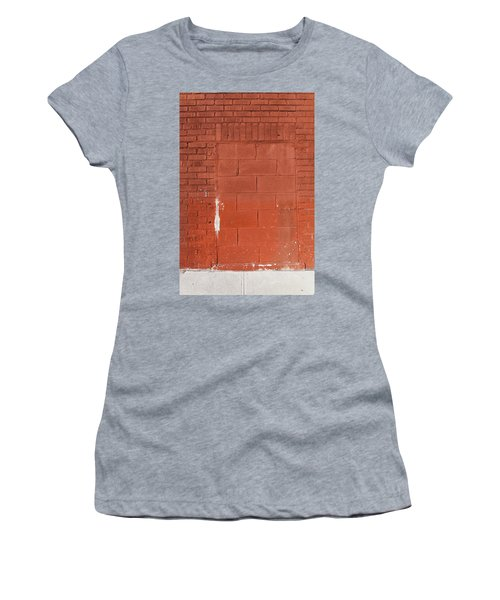 Red Wall With Immured Door Women's T-Shirt (Athletic Fit)