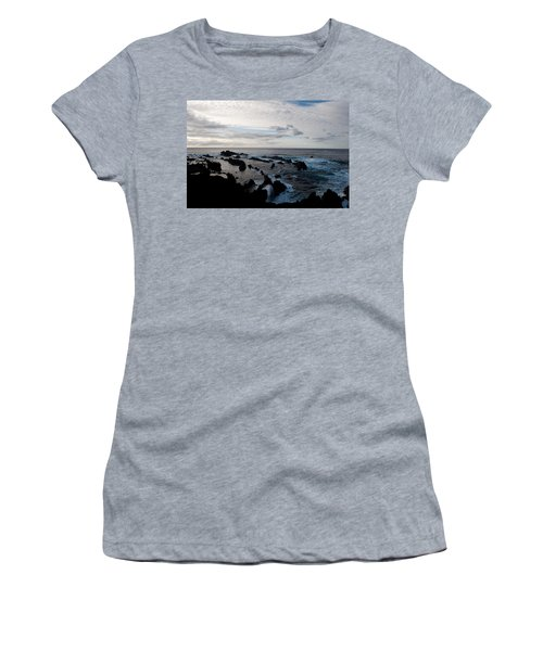 Rocky Beach At Dusk  Women's T-Shirt (Athletic Fit)