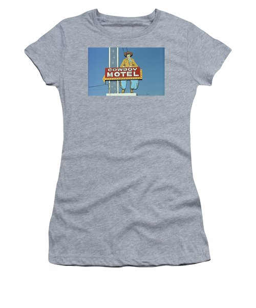 Route 66 - Cowboy Motel Women's T-Shirt (Athletic Fit)
