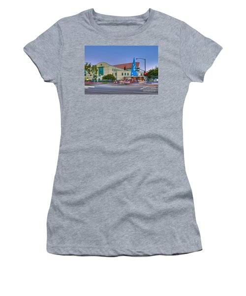 Roy E. Disney Animation Building In Burbank Ca. Women's T-Shirt (Athletic Fit)
