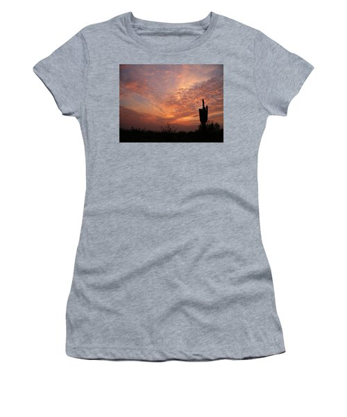 Saguaro Sunset Women's T-Shirt (Athletic Fit)