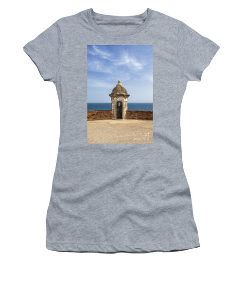 Women's T-Shirt featuring the photograph Sentry Box In Old San Juan Puerto Rico by Bryan Mullennix