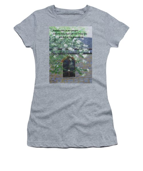 Sympathy Card With Church Women's T-Shirt