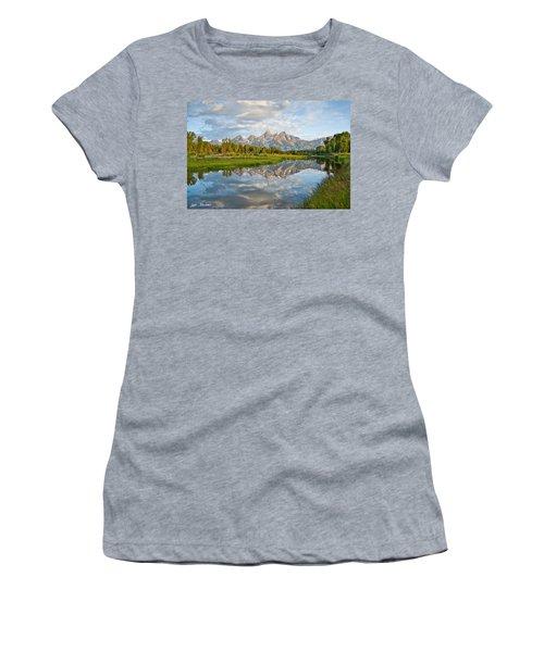 Teton Range Reflected In The Snake River Women's T-Shirt