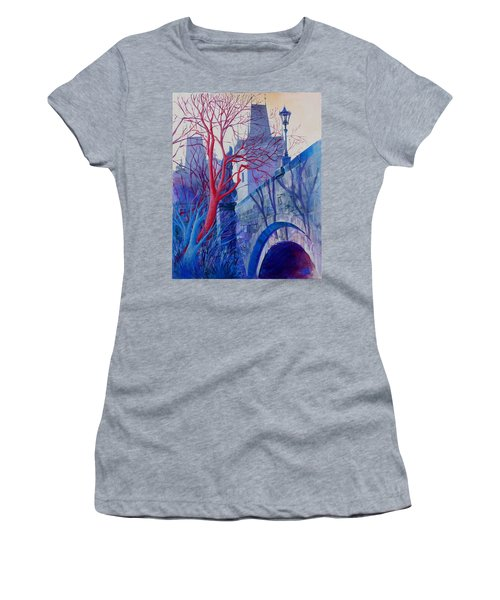 The Charles Bridge Blues Women's T-Shirt (Junior Cut) by Marina Gnetetsky