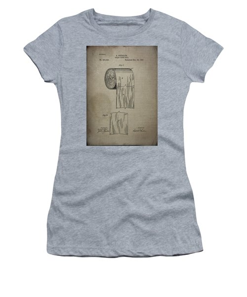 Toilet Paper Roll Patent 1891 Women's T-Shirt