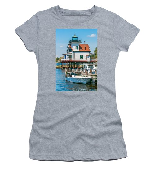 Town Of Edenton Roanoke River Lighthouse In Nc Women's T-Shirt