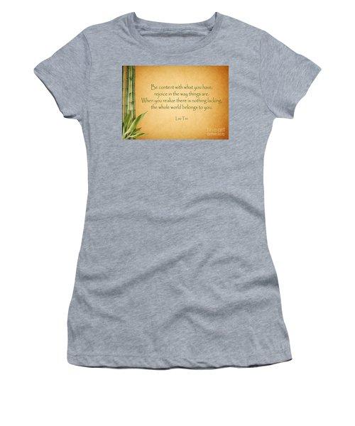 114- Lao Tzu Women's T-Shirt (Athletic Fit)