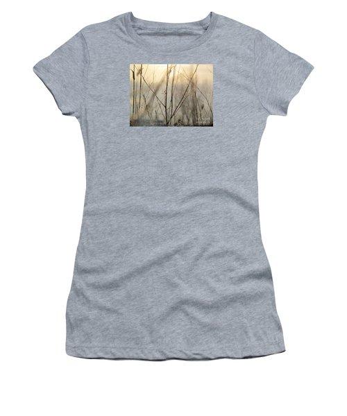 Wildflowers Winter Women's T-Shirt (Junior Cut) by France Laliberte