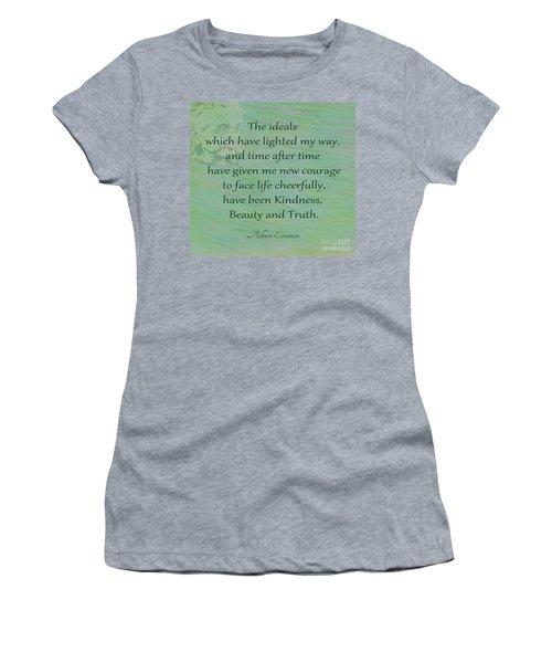 132- Albert Einstein Women's T-Shirt (Athletic Fit)