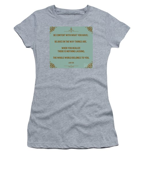 169- Lao Tzu Women's T-Shirt (Athletic Fit)
