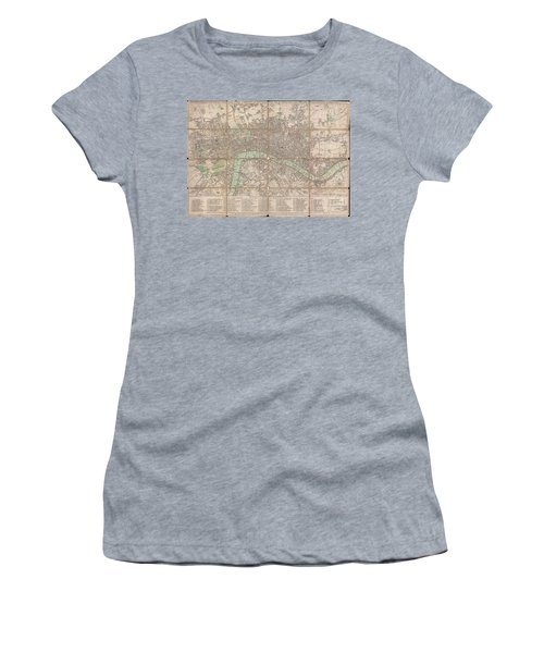 1795 Bowles Pocket Map Of London Women's T-Shirt (Athletic Fit)