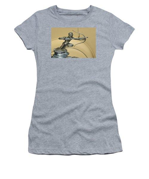 1928 Pierce Arrow Helmeted Archer Hood Ornament Women's T-Shirt