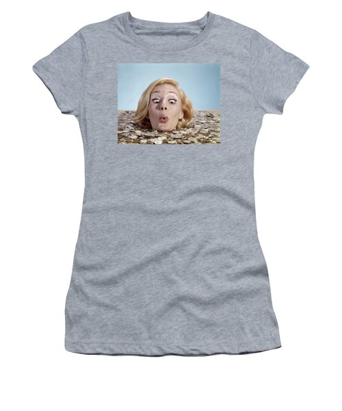 1960s Blond Woman Funny Facial Women's T-Shirt