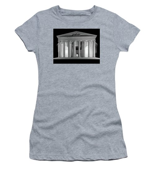 1960s Thomas Jefferson Memorial Lit Women's T-Shirt (Athletic Fit)