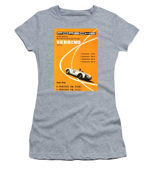 1968 Porsche Sebring Florida Poster Women's T-Shirt