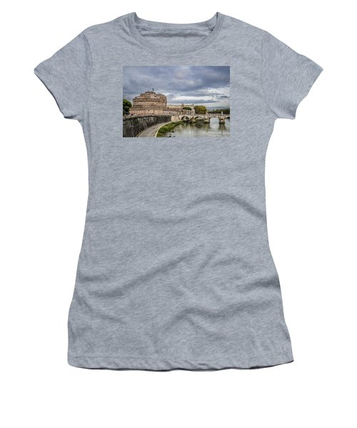 Castle St Angelo In Rome Italy Women's T-Shirt (Athletic Fit)