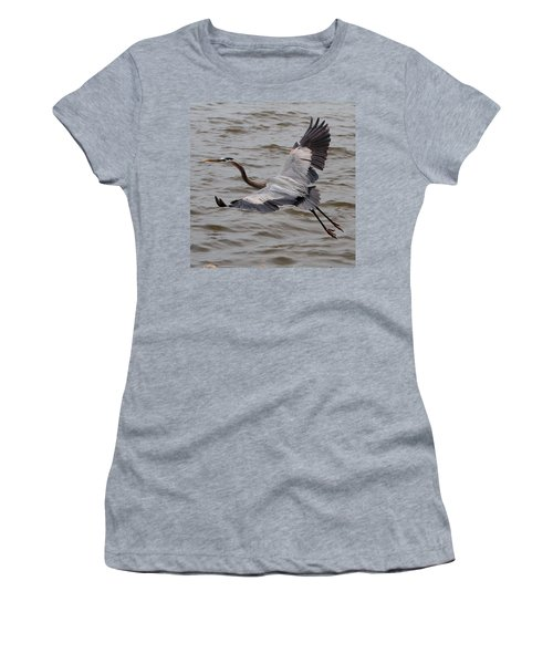 Heron In Flight. Women's T-Shirt (Athletic Fit)