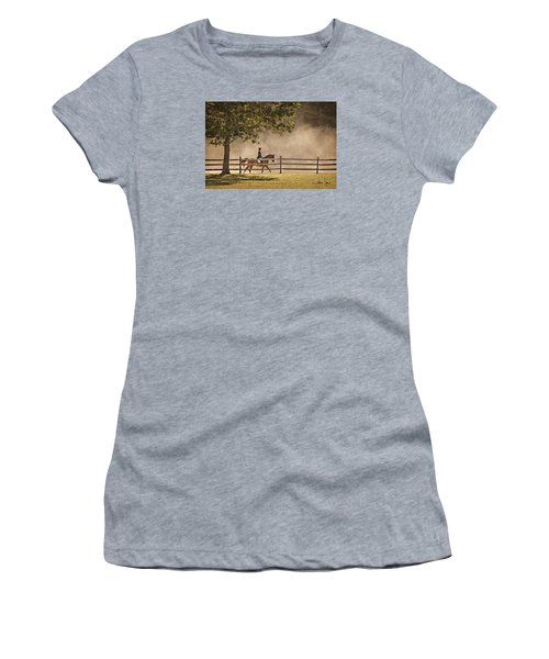 Women's T-Shirt (Junior Cut) featuring the photograph Last Ride Of The Day by Joan Davis